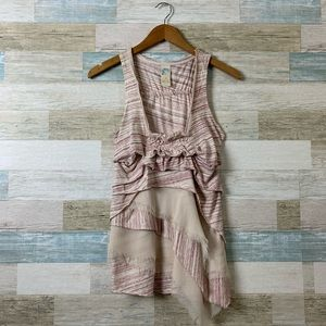Anthropologie Sleeveless Layered Top